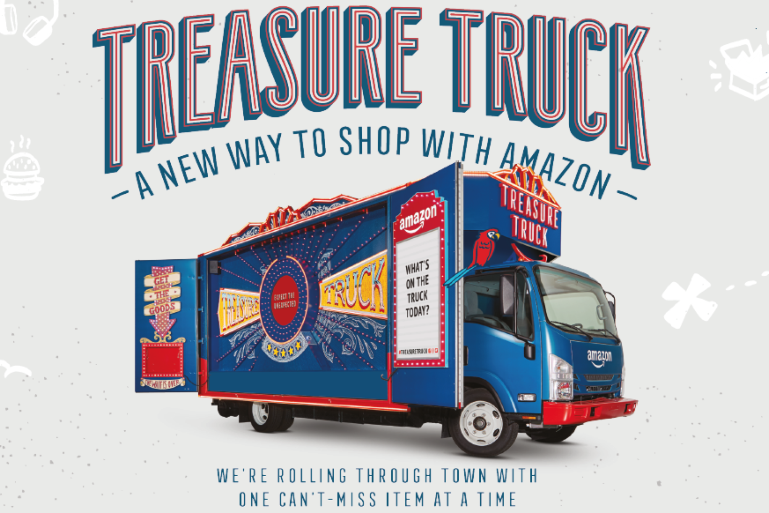 Amazon Treasure Truck Pulls in to White City Place — White