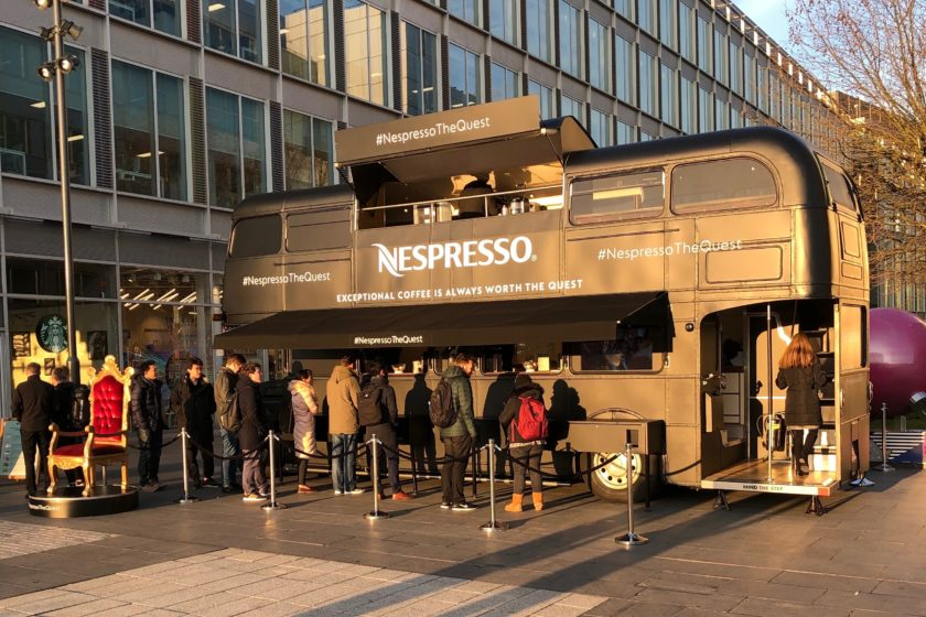Nespresso surprises White City Place occupiers with free coffees!