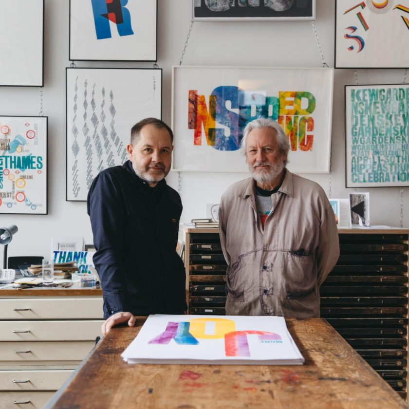 The art of typography, with Alan Kitching and Anthony Burrill