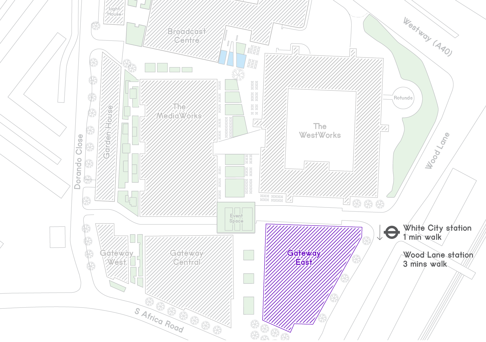 White City Place Map